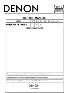 denon heos 1 hs2 wirless speaker system service manual