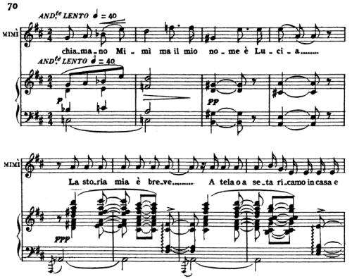 First Additional product image for - Mi chiamano Mimi, Aria for Soprano. G. Puccini: La Bohème,  Vocal Score (Ricordi.1896), Italian.