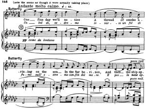 un bel di vedremo, aria for soprano. g. puccini: madame butterfly,  vocal score (ed. kalmus), engl/it