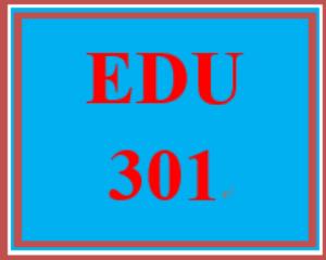 edu 301 week 2 educational learning opportunity