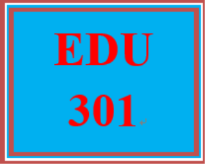 edu 301 week 3 personal philosophy of education paper
