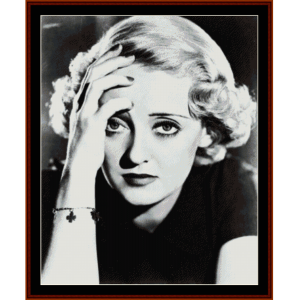 bette davis - vintage celebrity cross stitch pattern by cross stitch collectibles