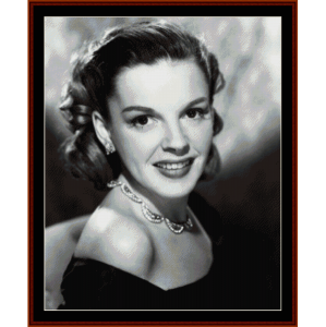 judy garland - vintage celebrity cross stitch pattern by cross stitch collectibles
