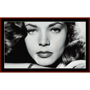 lauren bacall - vintage celebrity cross stitch pattern by cross stitch collectibles