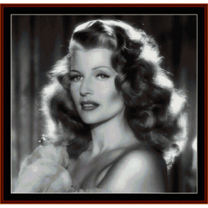 rita hayworth - vintage celebrity cross stitch pattern by cross stitch collectibles