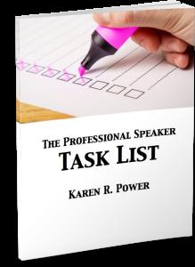 the professional speaker task list