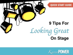 9 tips for looking great on stage