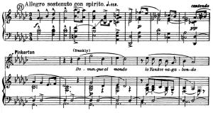 dovunque al mondo. aria for tenor, g. puccini, madame butterfly. ed. kalmus (a4) it.alian