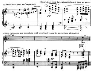recondita armonia. aria for tenor, g. puccini, tosca. vocal score, ed. ricordi (a4)