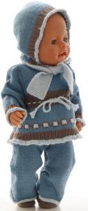 dollknittingpatterns 0187d mette - pullover, hose, schal, mütze und schuhe-(deutsch)