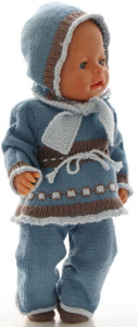 dollknittingpatterns 0187d mette - pull, pantalon, écharpe, bonnet et chaussures-(francais)