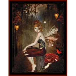 sentinel woods - fantasy cross stitch pattern by cross stitch collectibles
