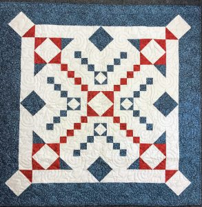 three cheers for the red, white and blue lap quilt
