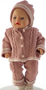 dollknittingpatterns 0188d ursula - jakke, bukse, kortermet genser, lue og sko-(norsk)