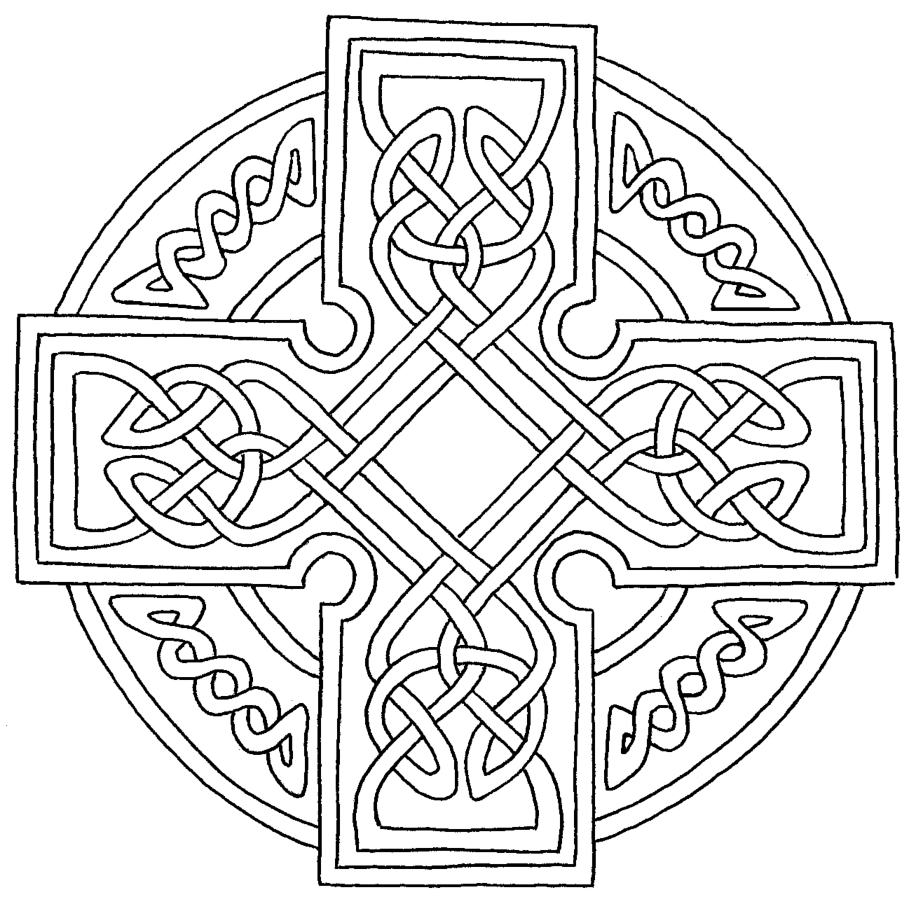 celtic cross printable coloring pages
