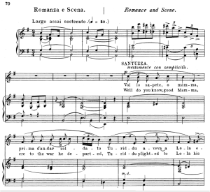 Voi lo sapete o Mamma. Aria for Soprano, P. Mascagni: Cavalleria Rusticana, Vocal Score, Ed. Schirmer, 1891. Italian/Englih | eBooks | Sheet Music