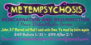 metemppsychosis = reincarnation resurrection