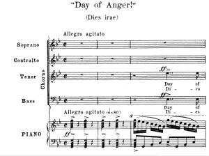 2 dies irae: choir satb and piano, g.verdi requiem, ed. schirmer (1895). vocal score, italian/english