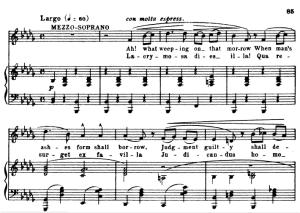 2 sequenza: lacrimosa and huic ergo: satb soloists, satb choir and piano. g.verdi requiem, ed. schirmer (1895). vocal score, italian/english