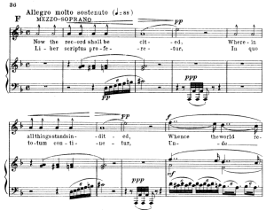 2 sequenza: liber scriptus:  for soprano, satb choir and piano. g.verdi requiem, ed. schirmer (1895). vocal score, italian/english