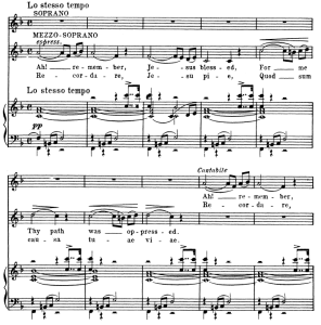 2 sequenza: recordare,for soprano, mezzo and piano. g.verdi requiem, ed. schirmer (1895). vocal score, italian/english