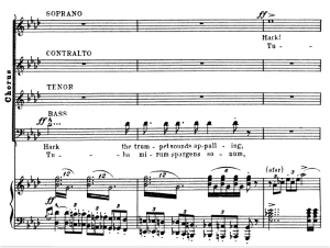 2 sequenza: tuba mirum and mors stupebit. bass solo, choir satb and piano. g.verdi requiem ed. schirmer (1895), vocal score,italian/english