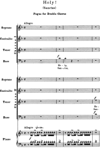 4 Sanctus, double Chorus SATB. G.Verdi Requiem Ed. Schirmer (1895). Vocal Score,   Italian/English | eBooks | Sheet Music