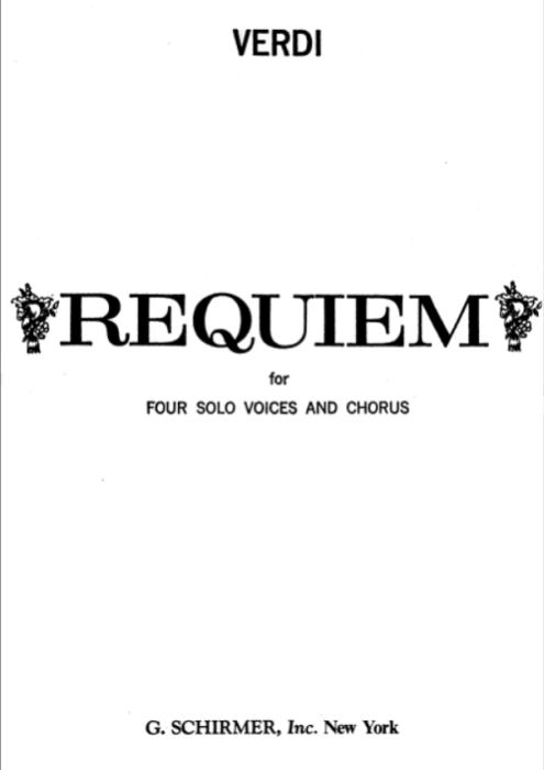 First Additional product image for - 6 Communio: Lux aeterna. for Mezzo,Tenor and Bass.G.Verdi Requiem Ed. Schirmer (1895). Vocal Score, Italian/English