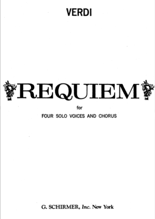 First Additional product image for - 7 Libera me. for Soprano Solo an SATB Choir. G.Verdi Requiem Ed. Schirmer (1895). Vocal Score, Italian/English