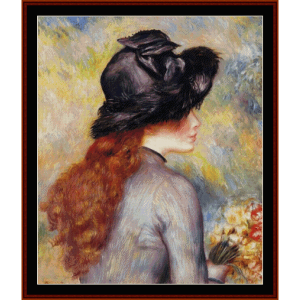 girl with tulips - renoir cross stitch pattern by cross stitch collectibles