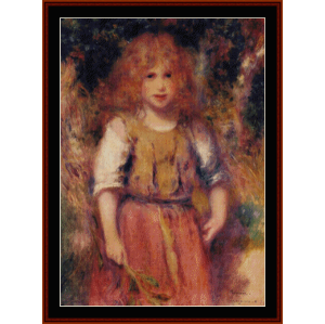 gypsy girl - renoir cross stitch pattern by cross stitch collectibles