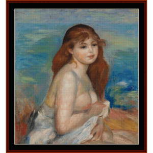 Etter Badet - Renoir cross stitch pattern by Cross Stitch Collectibles   Crafting   Cross-Stitch   Wall Hangings