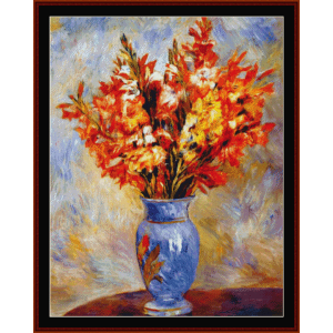 Gladiolas, 1884 - Renoir cross stitch pattern by Cross Stitch Collectibles | Crafting | Cross-Stitch | Wall Hangings