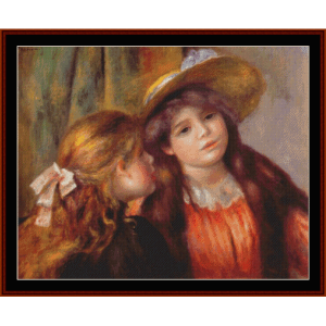 two girls, 1892 - renoir cross stitch pattern by cross stitch collectibles