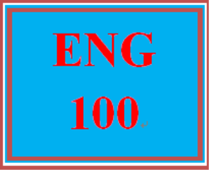 ENG 100 Entire Course | eBooks | Computers