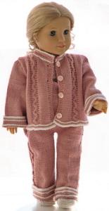 dollknittingpatterns 0188d ursula - veste, pantalon, pull à manches courtes, bonnet et chaussures-(francais)