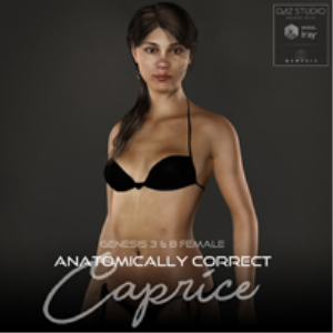 Anatomically Correct: Caprice for Genesis 3 and Genesis 8 Female | Software | Design