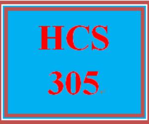 hcs 305 week 1 week one weekly overview