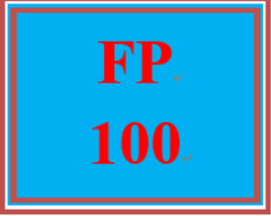 FP 100 Week 1 Economic Concepts Worksheet | eBooks | Education