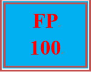 FP 100 Week 4 Homes: Renting and Buying Worksheet | eBooks | Education