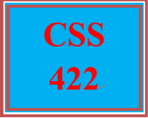 CSS 422 Week 3 Individual: System Reference Guide – Diagramming | eBooks | Education