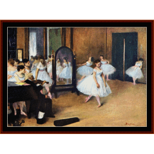 Dance Class, 1871 - Degas cross stitch pattern by Cross Stitch Collectibles | Crafting | Cross-Stitch | Wall Hangings