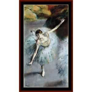 Dancer in Green, 1883 - Degas cross stitch pattern by Cross Stitch Collectibles | Crafting | Cross-Stitch | Wall Hangings
