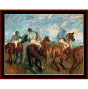 Jockeys - Degas cross stitch pattern by Cross Stitch Collectibles | Crafting | Cross-Stitch | Wall Hangings