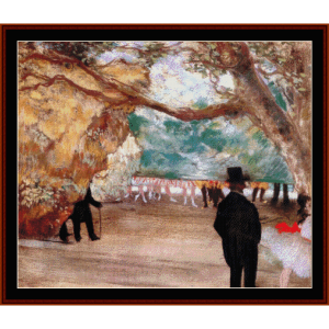 The Curtain - Degas cross stitch pattern by Cross Stitch Collectibles | Crafting | Cross-Stitch | Wall Hangings