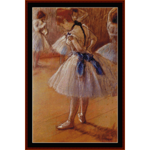 the dance studio, 1873 - degas cross stitch pattern by cross stitch collectibles