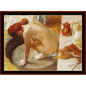 The Tub, 1886 - Degas cross stitch pattern by Cross Stitch Collectibles | Crafting | Cross-Stitch | Wall Hangings