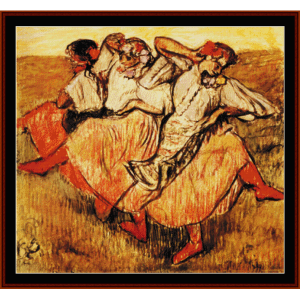 Three Russian Dancers, 1895 | Crafting | Cross-Stitch | Wall Hangings