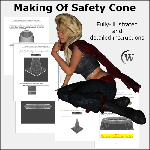 Second Additional product image for - MAKING OF: Safety Cone 3D Model for DS4