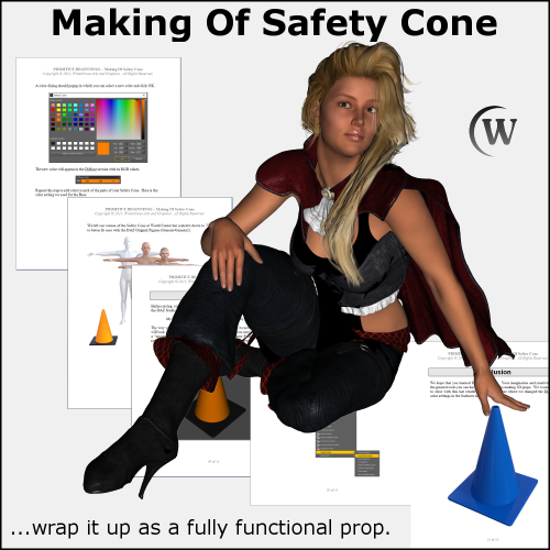 Third Additional product image for - MAKING OF: Safety Cone 3D Model for DS4